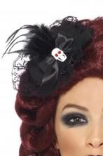Cappellino da strega burlesque pirata con teschio