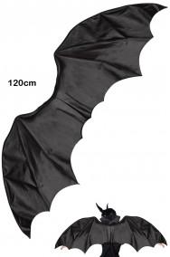 Ali nere da drago pipistrello grandi in simil pelle cm 120 di apertura per Malefizia o Malefica cosplay
