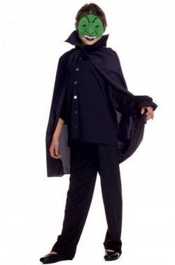 Set Halloween bambino offerta maschera vampiro e mantello 70 cm