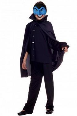 Set Halloween bambino offerta maschera dracula e mantello 70 cm
