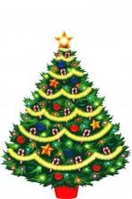 Decorazione natalizia Albero di Natale in cartoncino