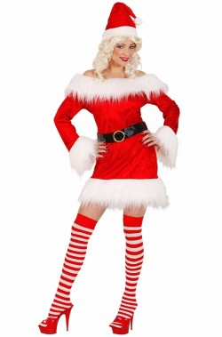 Costume abito Babbo Natale donna Babba Natale, Natalina