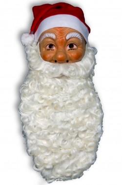 Barba Babbo Natale Lunghissima Riccia Bianca scura