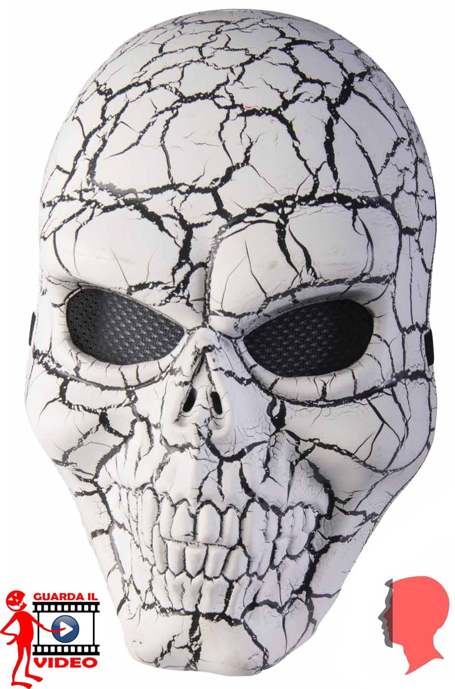 Maschera teschio marmorizzato o pietrficato