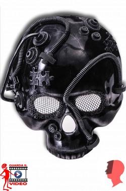 Maschera teschio nero steampunk  mad max oltre la sfera del tuono