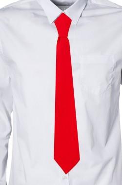 Cravatta finta con elastico in satin (lame') rossa