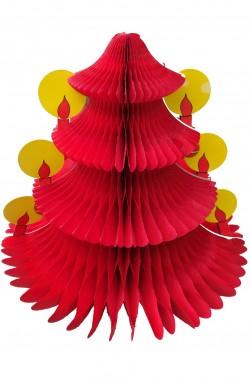 Decorazione natalizia Albero di Natale a soffietto rosso