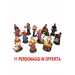 Figurine del presepe undici personaggi