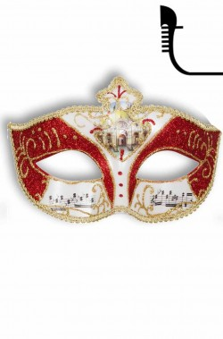 Maschera carnevale stile veneziano Mozart