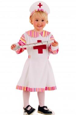 Costume carnevale Bambina Infermiera 5/7 anni