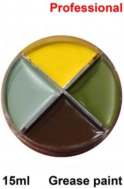 Trucco teatrale palette in cialda grease 4 colori strega 15gr