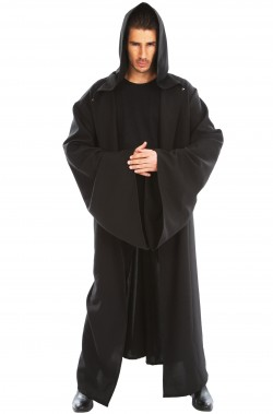 Tunica nera della morte o medievale 180cm