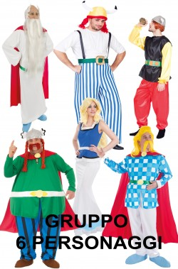 Gruppo di costumi per sei Il Villaggio dei galli di Asterix