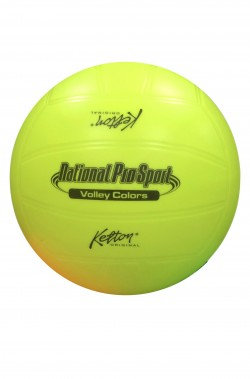 Pallone volley in gomma giallo fluo