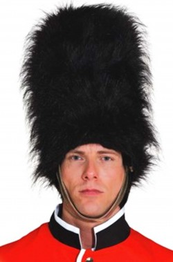 Cappello guardia reale Inglese Nero rigido rivestito in tessuto
