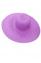 Cappello da donna a larghe falde anni 60 70 in paglia viola