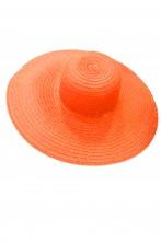 Cappello da donna a larghe falde anni 60 70 in paglia arancio