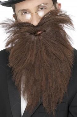 Barba Marrone Mago con elastico