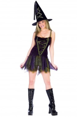 Costume da Strega donna con cappello