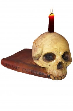 Libro dell'enciclopedia dei mostri Allestimento Halloween