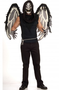 Set ali, maschera e guanti scheletro