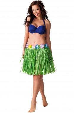 Gonna hawaiana  verde 45 cm.