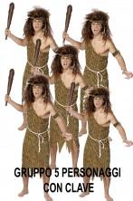 Costume uomo cavernicolo o cavernicola