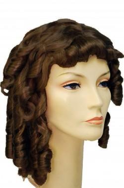 Parrucca Donna Lunga Marrone 700, Barocco Rococo