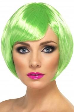 Parrucca donna verde corta a caschetto