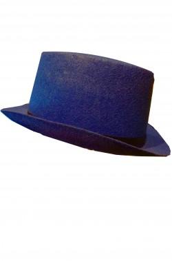 Cilindro blu in feltro altezza 13 cm