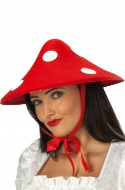 Cappello da fungo rosso a pois bianchi adulto taglia unica