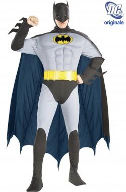 Costume Batman De Luxe Con Muscoli Adam West Grigio