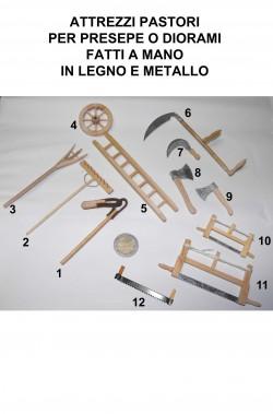Accessori presepe contadino in legno vero:ruota (foto n.4)
