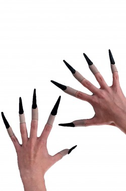 Unghie finte Strega e Pennywise IT con unghie nere