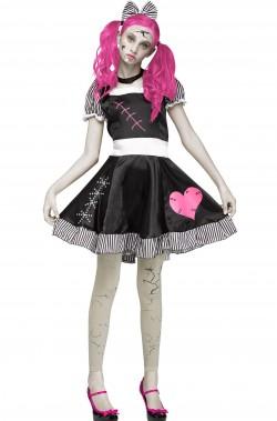 Costume donna bambola Horror o cupido dark