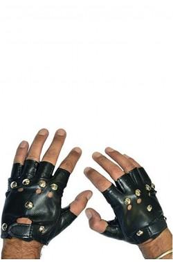 Guanti Rocker in finta pelle con borchie