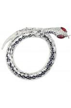 Bracciale di metallo a forma di serpente