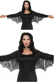 Ali nere da pipistrello da indossare sul tuo vestito