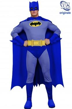 Costume Batman Grigio e blu Cartoon adulto