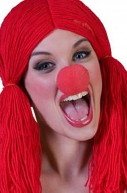 Naso clown in spugna autoreggente