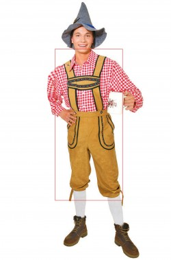Costume uomo tirolese solo pantalone