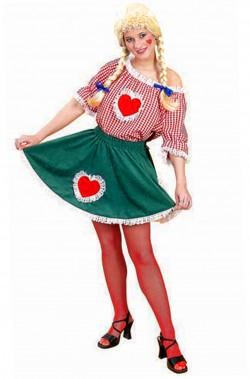 Costume da tirolese bavarese Heidi donna