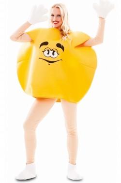 costume adulto unisex pastiglia di cioccolato gialla