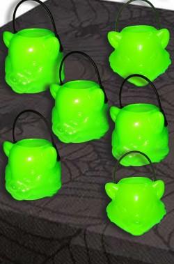 Coppetta Porta dolcetti segnaposto Halloween 4cm gatti verdi