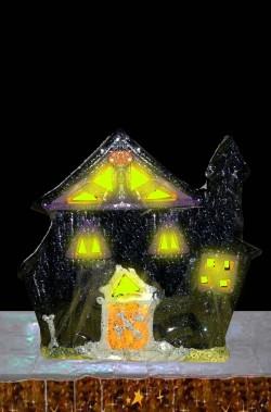 Portacandela halloween casa stregata per candeline a cialda