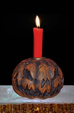 Portacandela halloween zucca