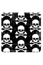 Halloween Party Jolly Roger Piatti di carta con teschio 18pzx18cm