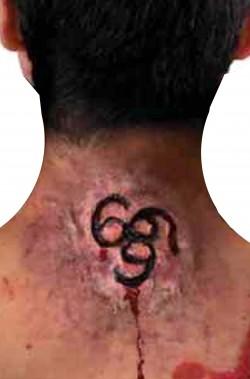 FX Trucco In Lattice ustione marchio di satana 666