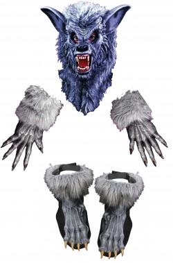 Set costume da animale da lupo grigio