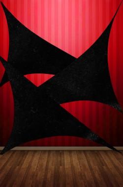 Lycra nera elasticizzata lucida per fondali, allestimenti Halloween e Pirati